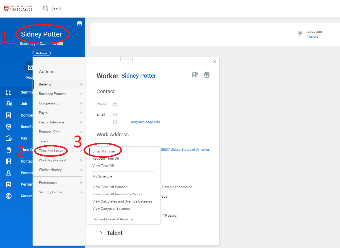 You Can Access Your Profile By Clicking On The Cloud In Top Right Corner Of Workday Homepage